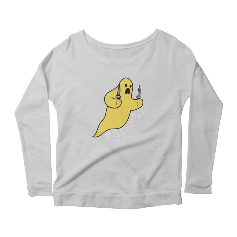 PISS GHOST Women's Scoop Neck Longsleeve T-Shirt by Tittybats's Artist Shop