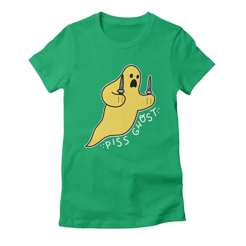 PISS GHOST Women's Fitted T-Shirt by Tittybats