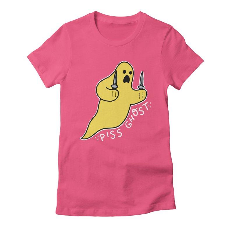PISS GHOST Women's Fitted T-Shirt by Tittybats's Artist Shop
