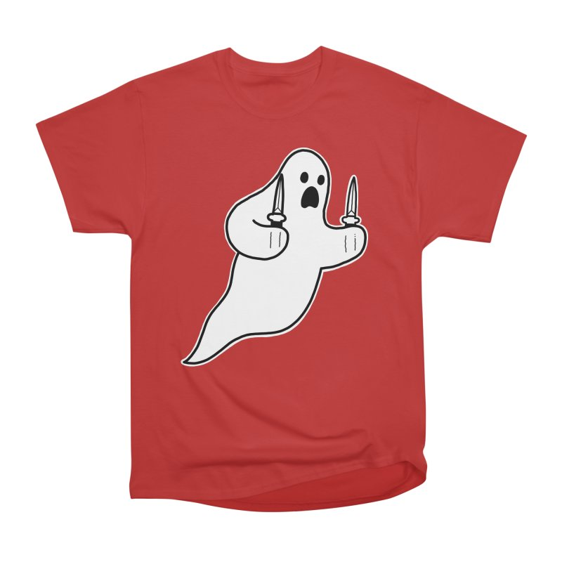 STAB GHOST Women's Heavyweight Unisex T-Shirt by Tittybats