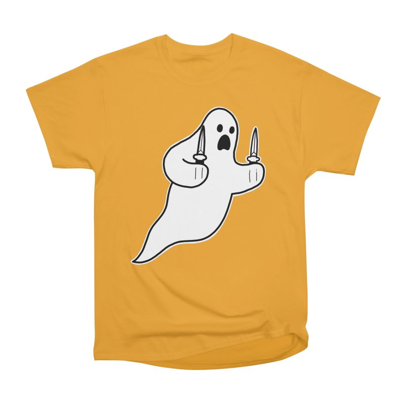 STAB GHOST Men's Heavyweight T-Shirt by Tittybats