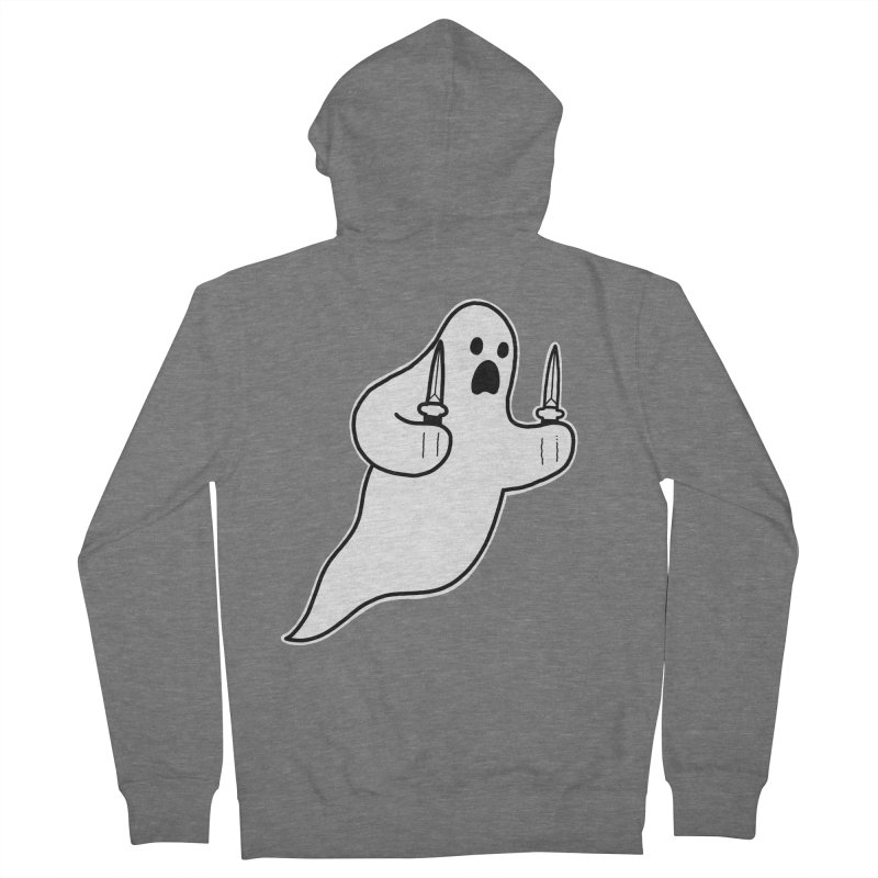 STAB GHOST Women's French Terry Zip-Up Hoody by Tittybats