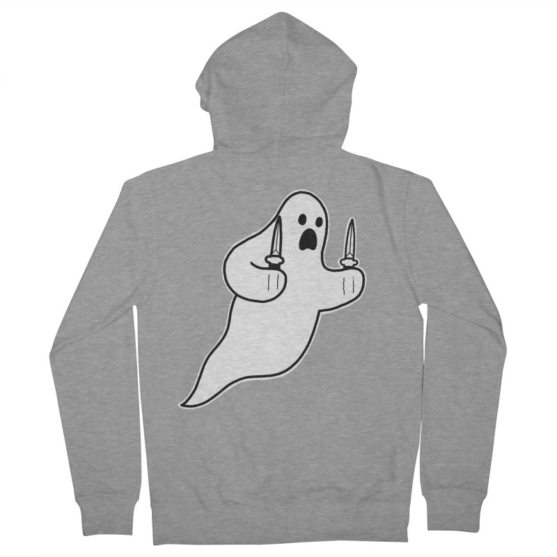 STAB GHOST Men's French Terry Zip-Up Hoody by Tittybats
