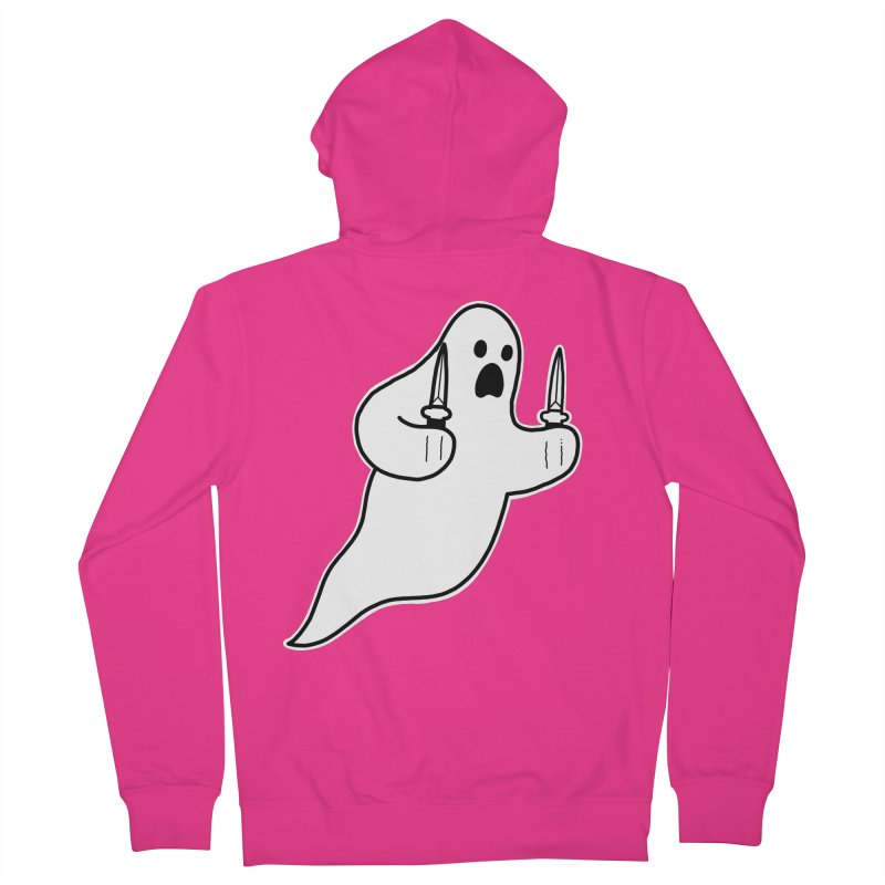 STAB GHOST Men's French Terry Zip-Up Hoody by Tittybats's Artist Shop