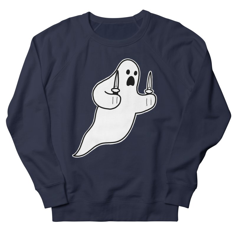 STAB GHOST Women's French Terry Sweatshirt by Tittybats