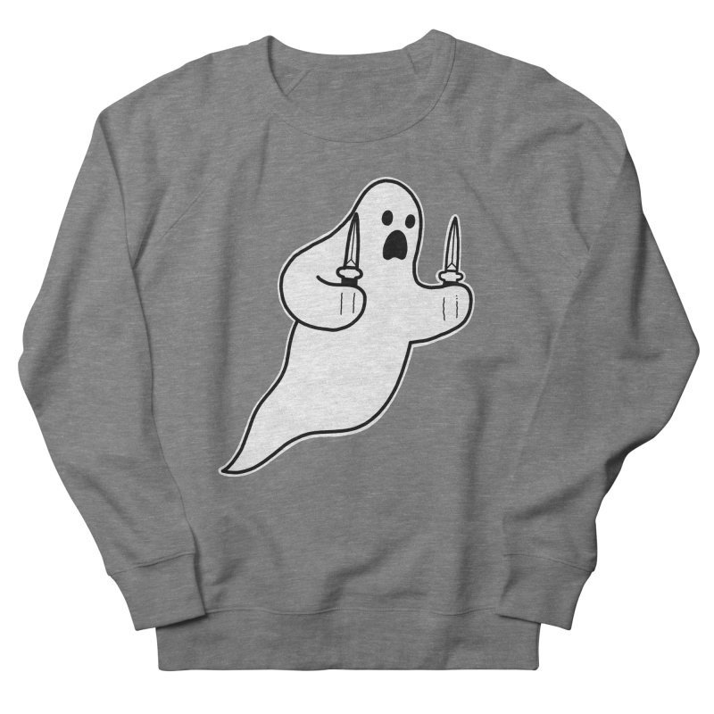 STAB GHOST Men's French Terry Sweatshirt by Tittybats