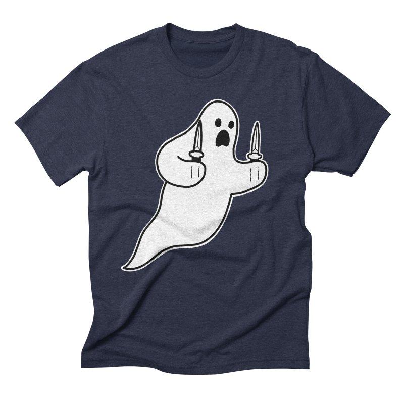 STAB GHOST Men's Triblend T-Shirt by Tittybats