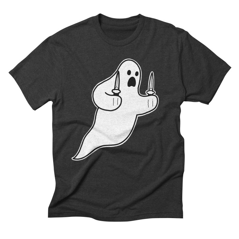 STAB GHOST Men's Triblend T-Shirt by Tittybats