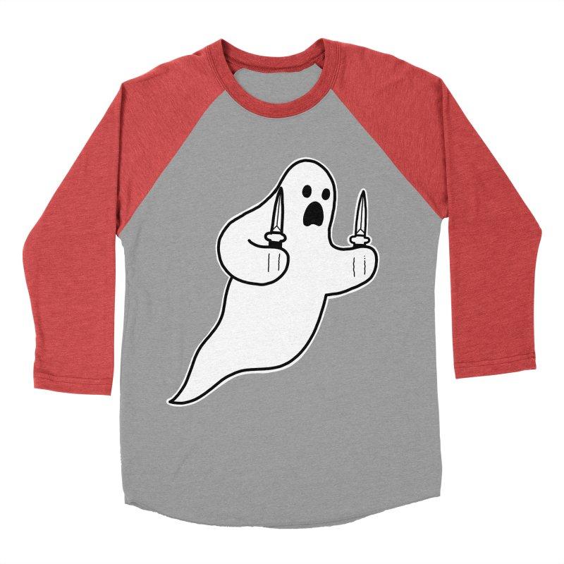 STAB GHOST Men's Baseball Triblend Longsleeve T-Shirt by Tittybats's Artist Shop