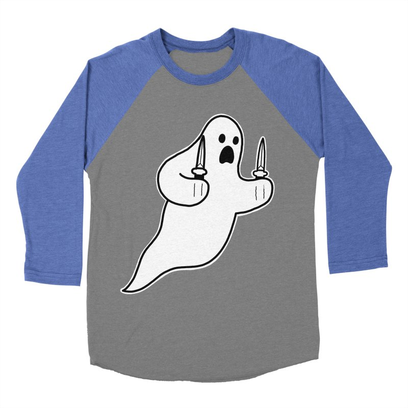 STAB GHOST Men's Baseball Triblend Longsleeve T-Shirt by Tittybats's Artist Shop