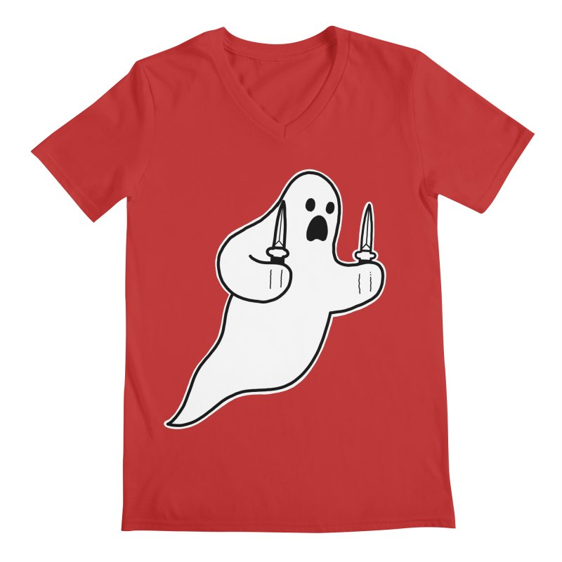 STAB GHOST Men's V-Neck by Tittybats