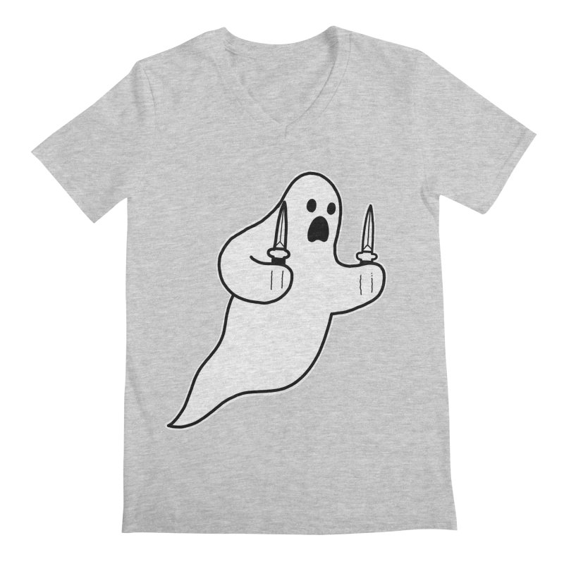 STAB GHOST Men's Regular V-Neck by Tittybats