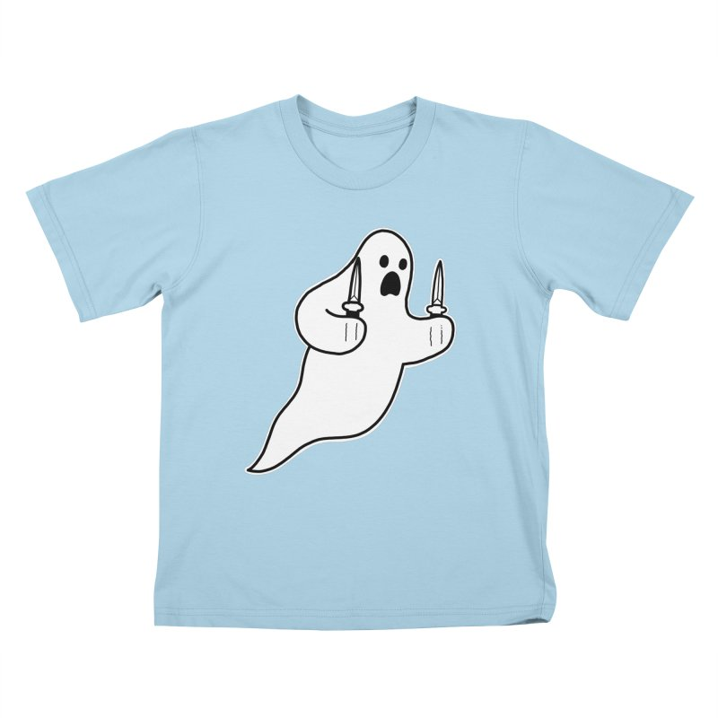 STAB GHOST Kids T-Shirt by Tittybats