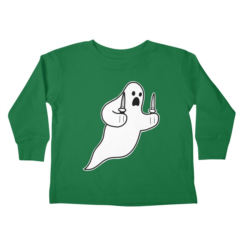 STAB GHOST Kids Toddler Longsleeve T-Shirt by Tittybats