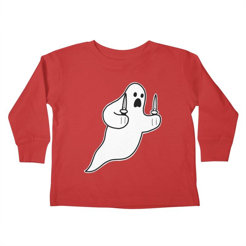 STAB GHOST Kids Toddler Longsleeve T-Shirt by Tittybats's Artist Shop