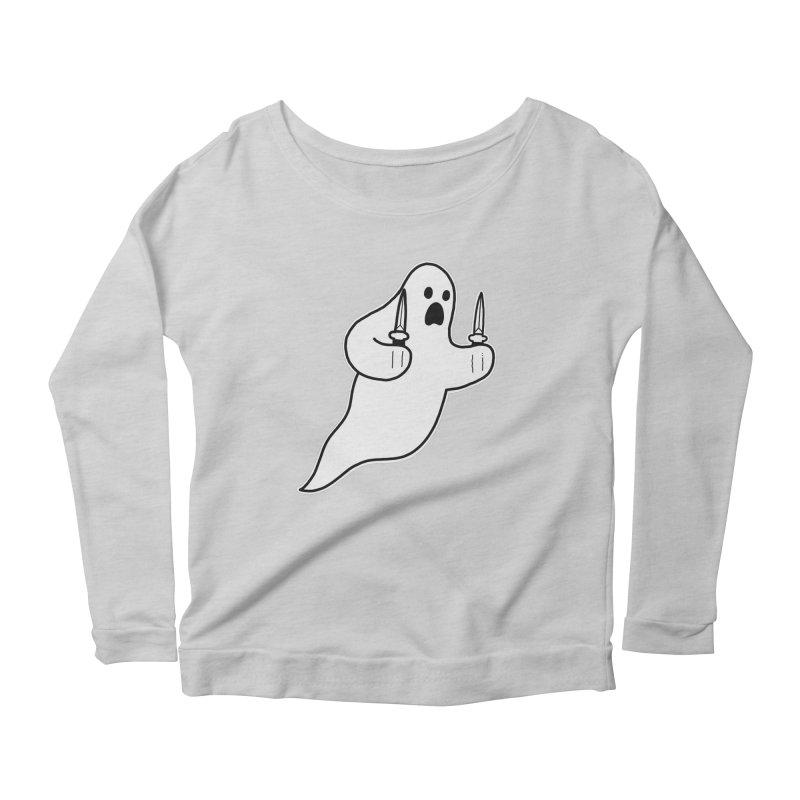 STAB GHOST Women's Scoop Neck Longsleeve T-Shirt by Tittybats