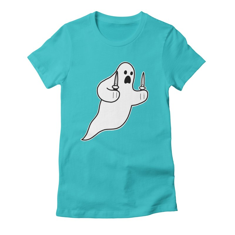 STAB GHOST Women's Fitted T-Shirt by Tittybats