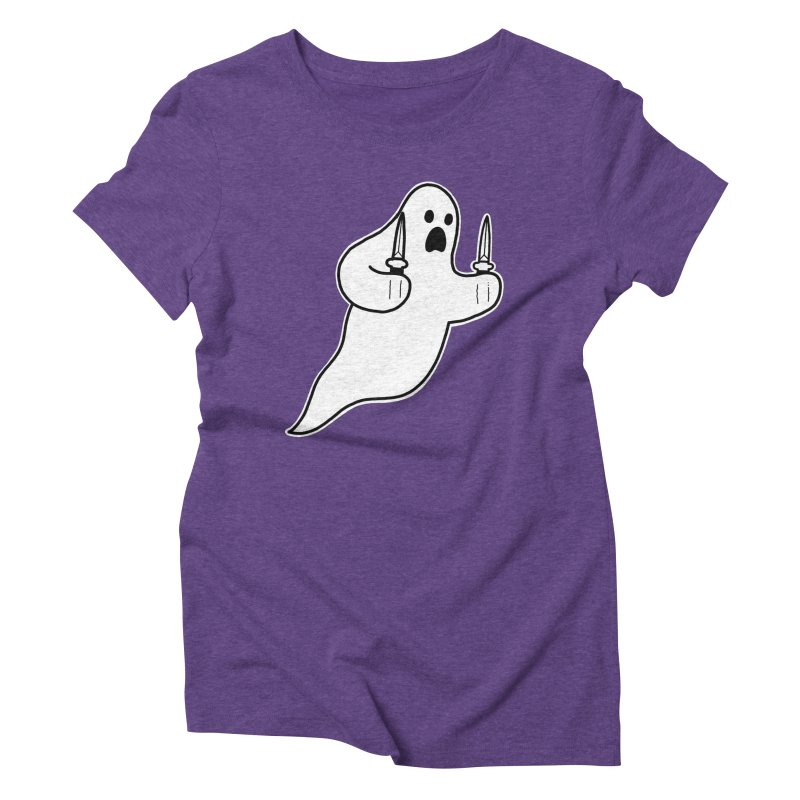 STAB GHOST Women's Triblend T-Shirt by Tittybats