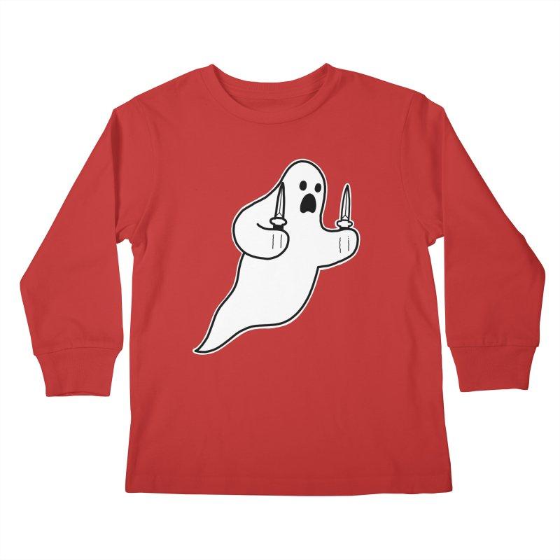 STAB GHOST Kids Longsleeve T-Shirt by Tittybats