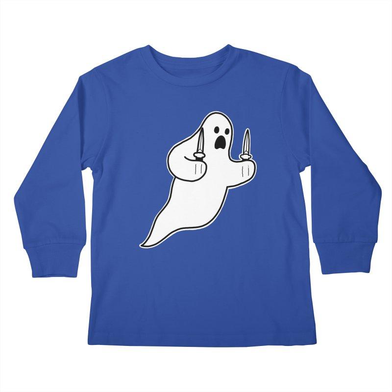 STAB GHOST Kids Longsleeve T-Shirt by Tittybats's Artist Shop