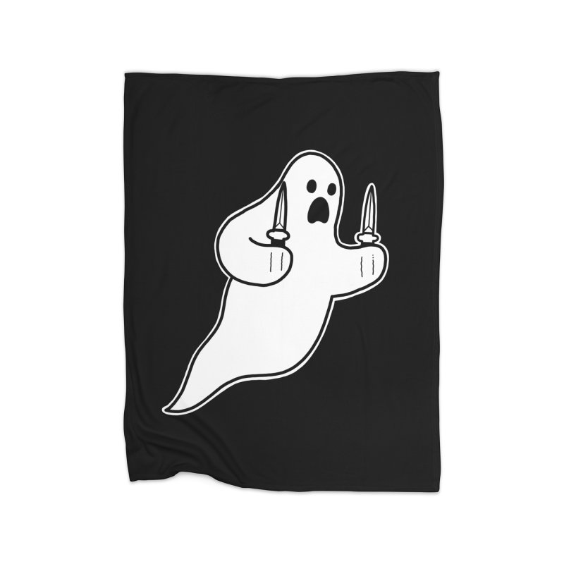 STAB GHOST Home Fleece Blanket Blanket by Tittybats