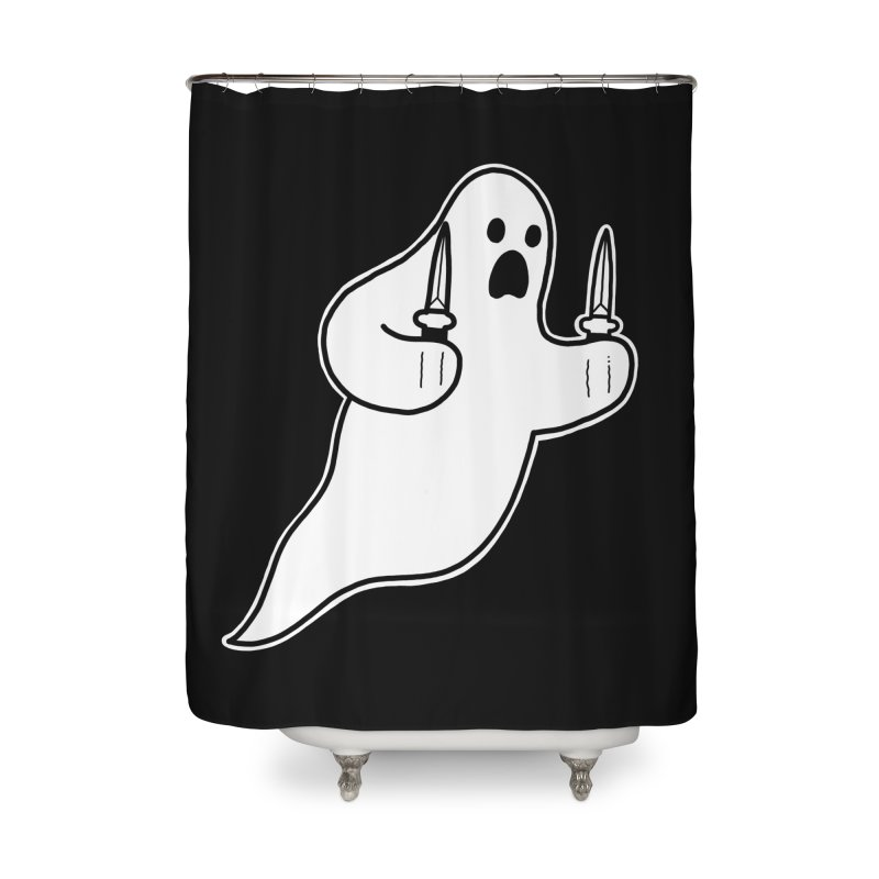 STAB GHOST Home Shower Curtain by Tittybats's Artist Shop