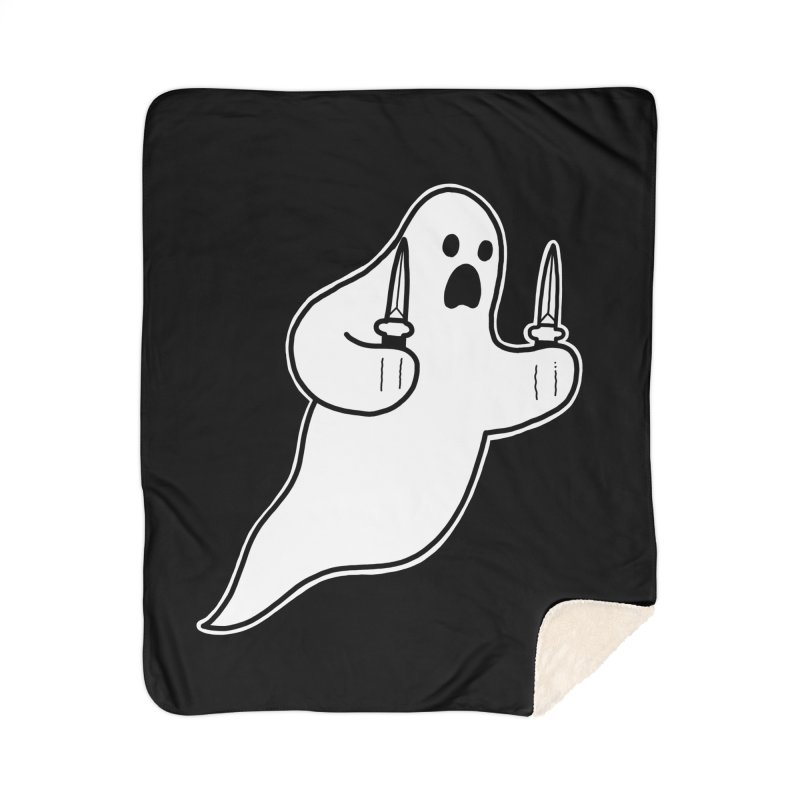 STAB GHOST Home Sherpa Blanket Blanket by Tittybats