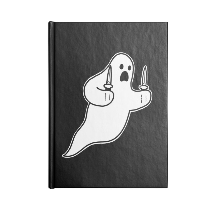 STAB GHOST Accessories Blank Journal Notebook by Tittybats