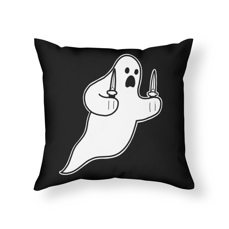 STAB GHOST Home Throw Pillow by Tittybats's Artist Shop