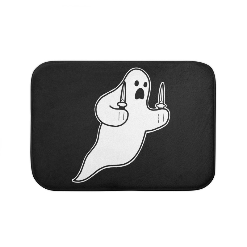 STAB GHOST Home Bath Mat by Tittybats