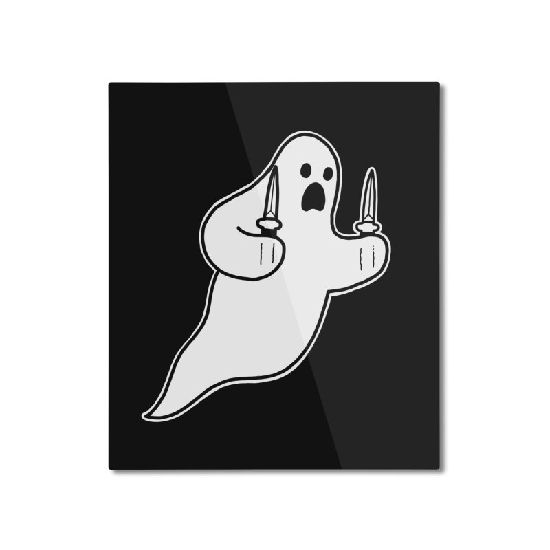 STAB GHOST Home Mounted Aluminum Print by Tittybats's Artist Shop