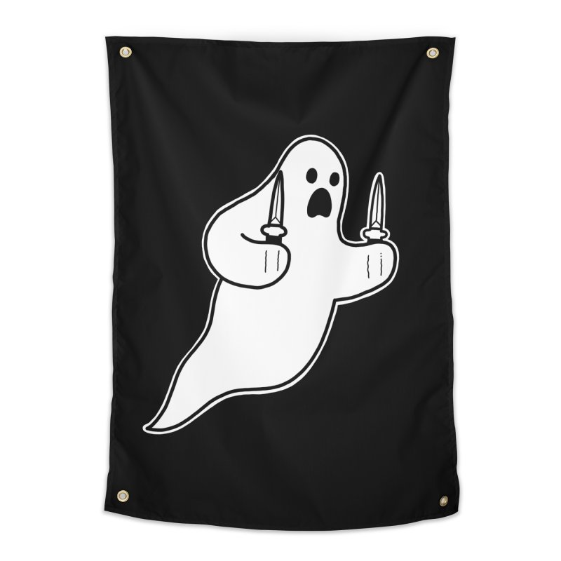 STAB GHOST Home Tapestry by Tittybats