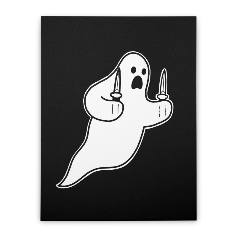 STAB GHOST Home Stretched Canvas by Tittybats