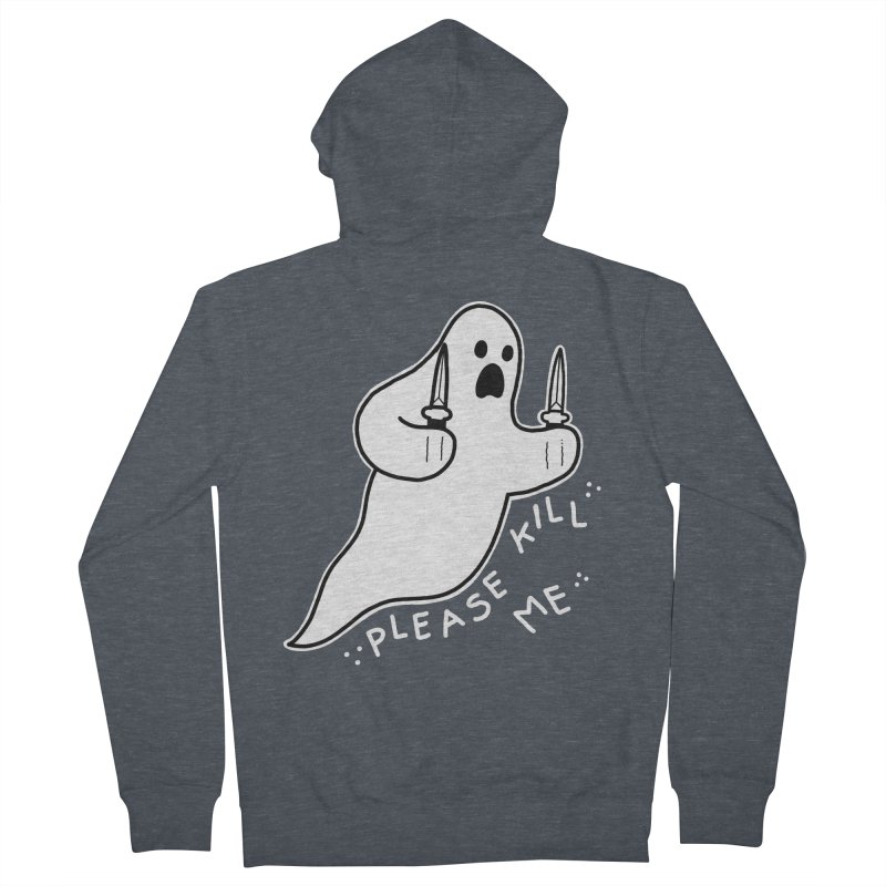 PLEASE KILL ME Men's French Terry Zip-Up Hoody by Tittybats's Artist Shop