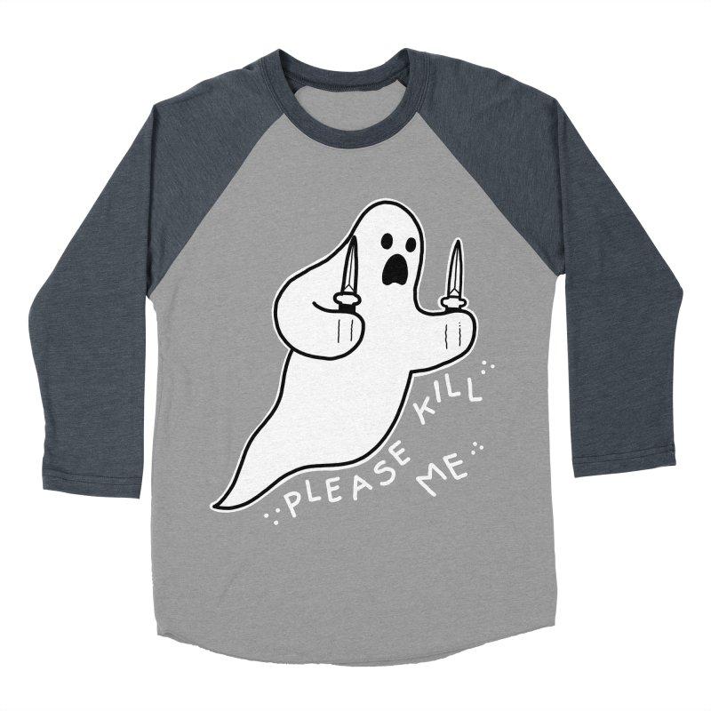 PLEASE KILL ME Men's Baseball Triblend Longsleeve T-Shirt by Tittybats