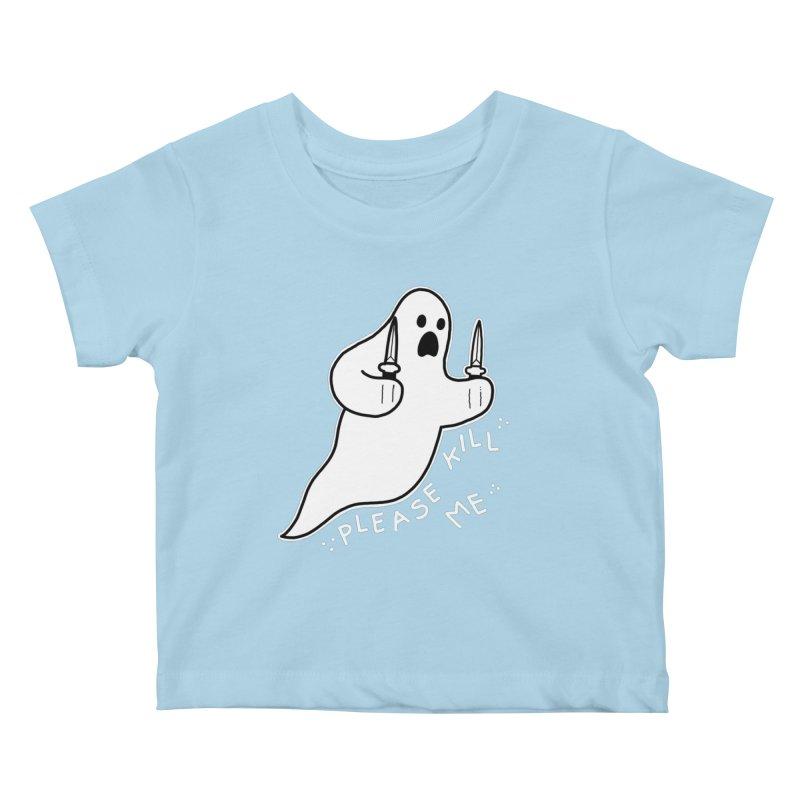 PLEASE KILL ME Kids Baby T-Shirt by Tittybats