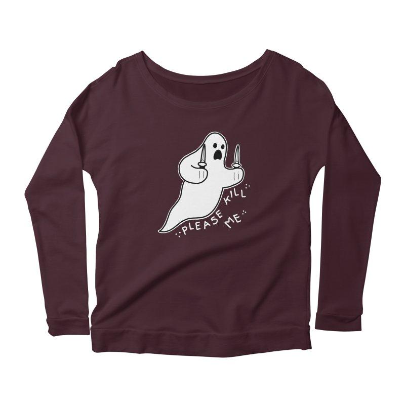 PLEASE KILL ME Women's Scoop Neck Longsleeve T-Shirt by Tittybats's Artist Shop