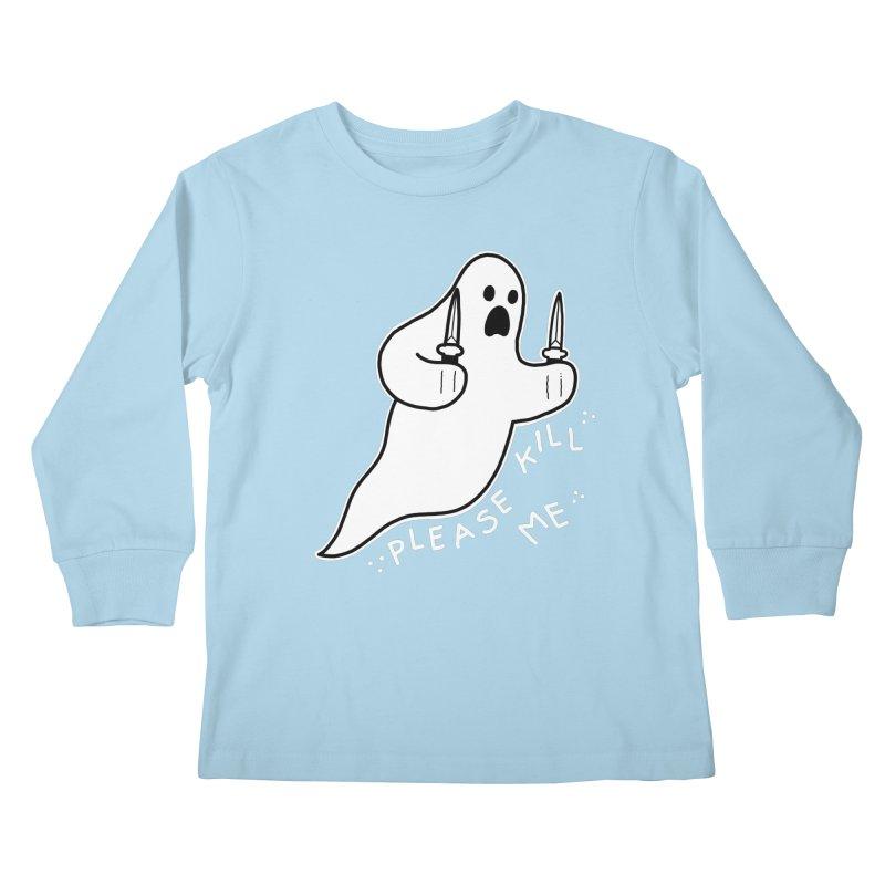 PLEASE KILL ME Kids Longsleeve T-Shirt by Tittybats's Artist Shop