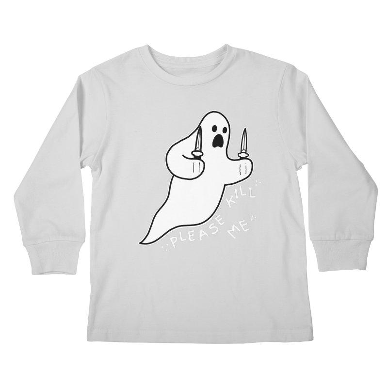 PLEASE KILL ME Kids Longsleeve T-Shirt by Tittybats