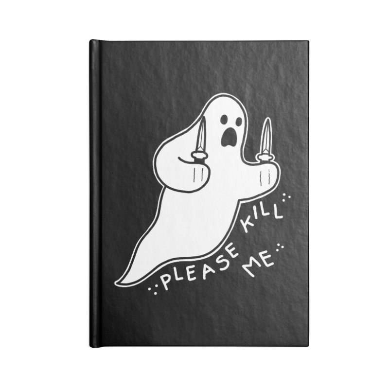 PLEASE KILL ME Accessories Lined Journal Notebook by Tittybats