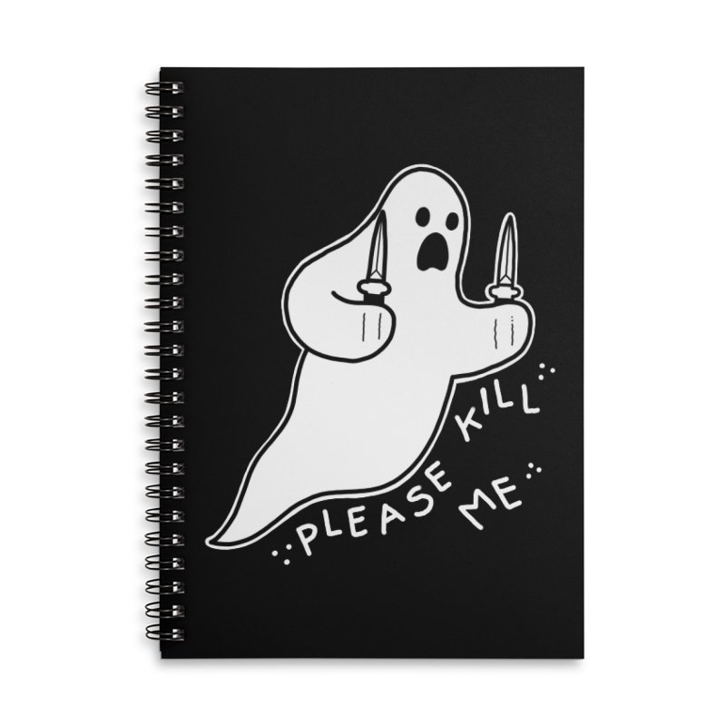 PLEASE KILL ME Accessories Lined Spiral Notebook by Tittybats