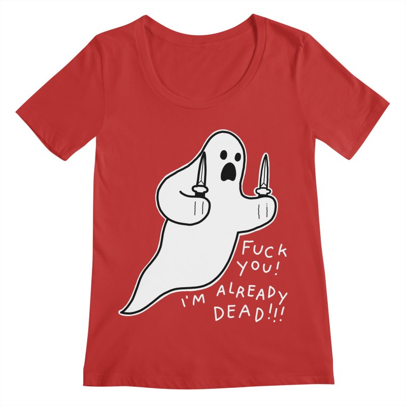 ALREADY DEAD Women's Regular Scoop Neck by Tittybats