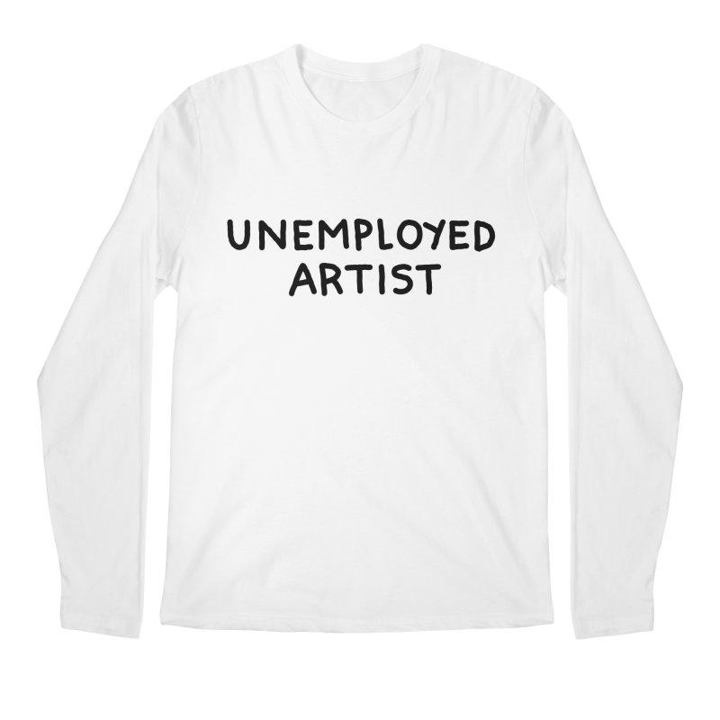 UNEMPLOYED ARTIST black Men's Regular Longsleeve T-Shirt by Tittybats
