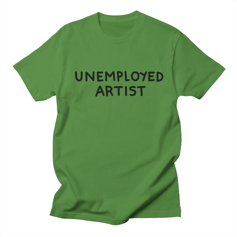 UNEMPLOYED ARTIST black Men's Regular T-Shirt by Tittybats