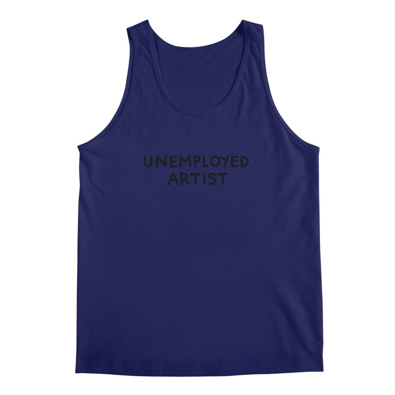 UNEMPLOYED ARTIST black Men's Regular Tank by Tittybats