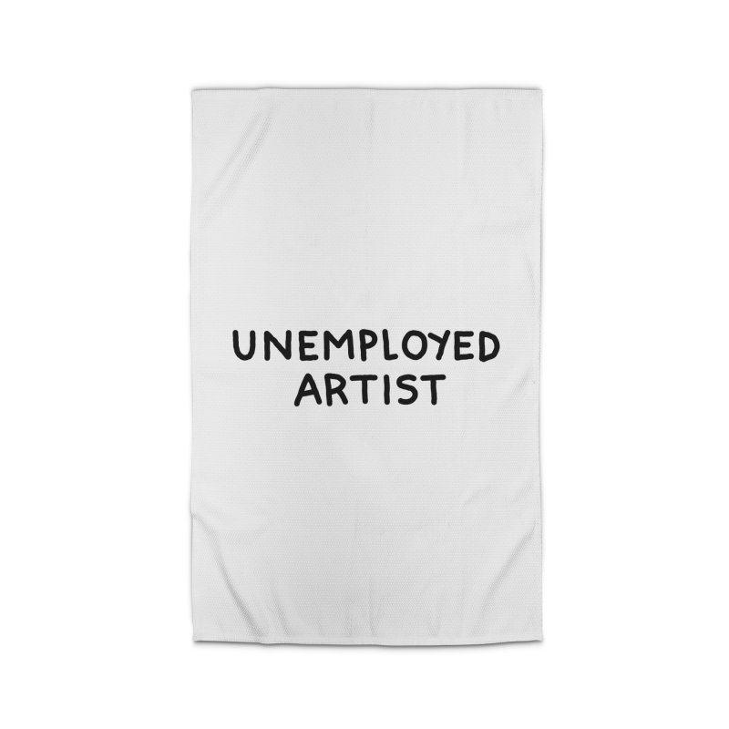 UNEMPLOYED ARTIST black Home Rug by Tittybats