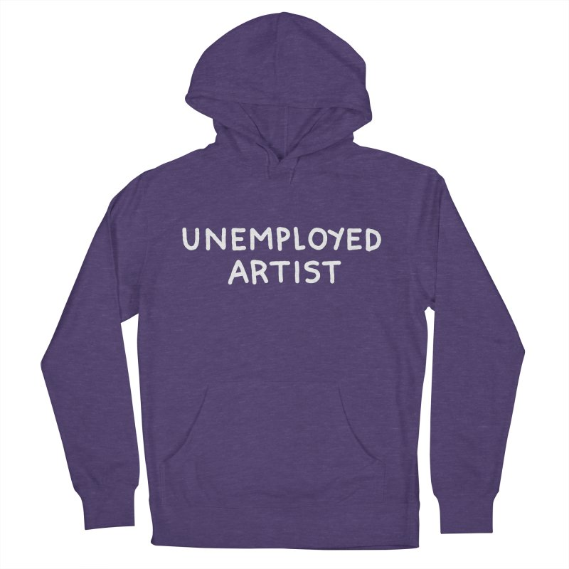 UNEMPLOYED ARTIST white Women's French Terry Pullover Hoody by Tittybats