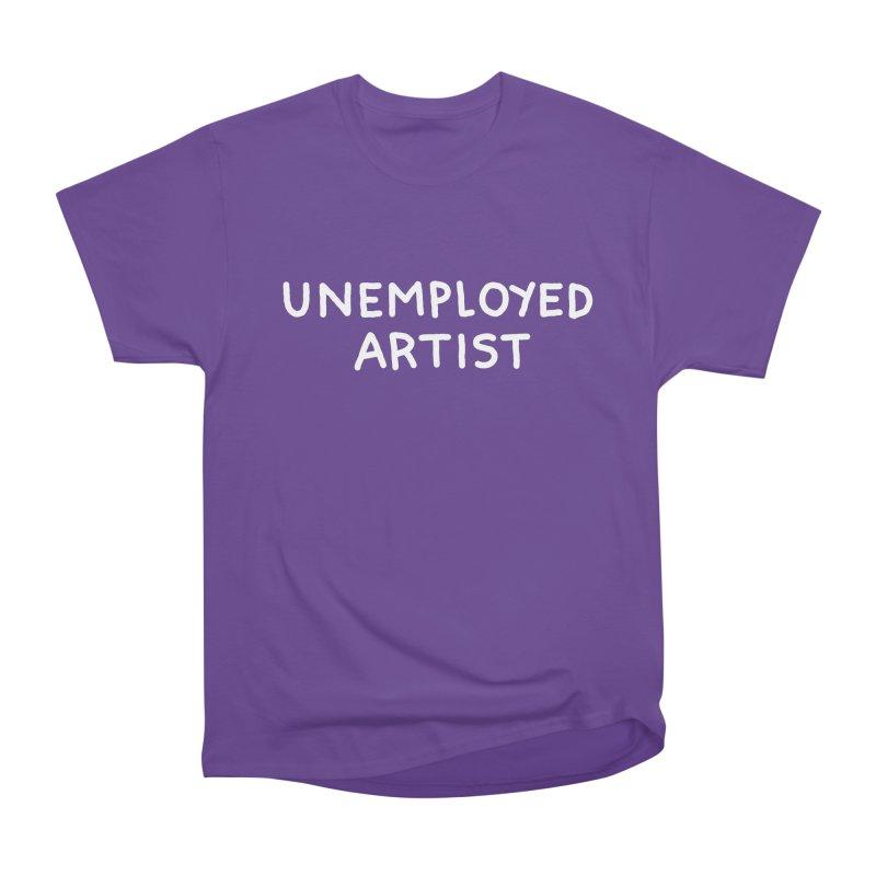UNEMPLOYED ARTIST white Men's Heavyweight T-Shirt by Tittybats