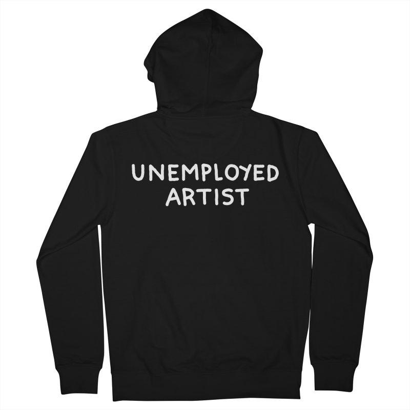 UNEMPLOYED ARTIST white Men's Zip-Up Hoody by Tittybats