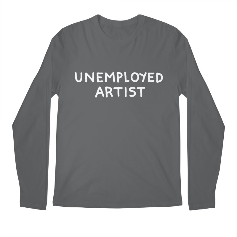 UNEMPLOYED ARTIST white Men's Regular Longsleeve T-Shirt by Tittybats